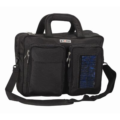 Solar Computer Briefcase/Backpack in Black