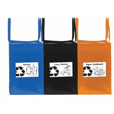 Goodhope Bags Folding Recycling Tote Bag (Set of 3)