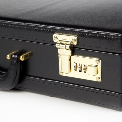 Goodhope Bags Expandable Simulated Leather Attache Briefcase in Black