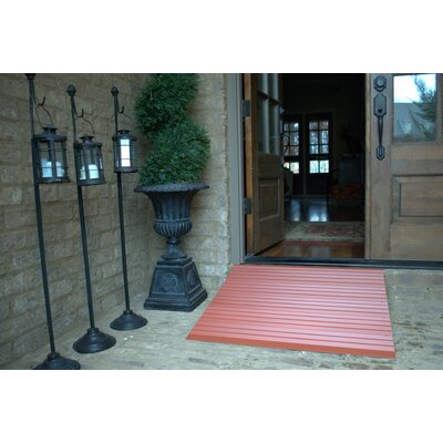 American Access Threshold Ramp in Terracotta Powder Coat