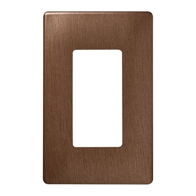 Legrand Single Gang Decorator Screwless Wall Plate in Brushed copper