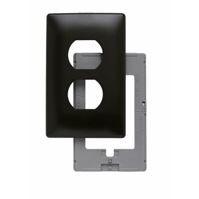 Legrand Single Gang Outlet Opening Screwless Wall Plate in Brown