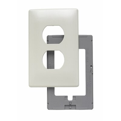 Legrand Single Gang Outlet Opening Screwless Wall Plate in Light Almond