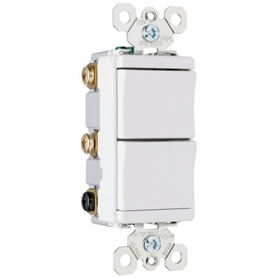 Legrand TradeMaster 15A 120V Decorator One Single Pole and One Three Way Switch in Light Almond