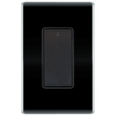 Legrand 600W Decorator Radio Frequency Three Way Dimmer in Black