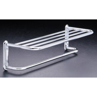 "Taymor Industries Inc. 18"" Satin Nickel Towel Shelf with Single Bar"