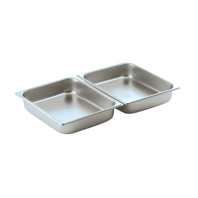 Oblong 1 / 2 Stainless Steel Food Pan