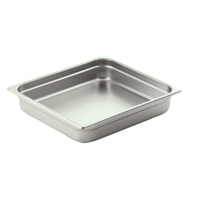 Oblong 2 / 3 Stainless Steel Food Pan