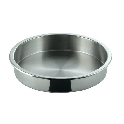 Large Round Full Size Stainless Steel Food Pan