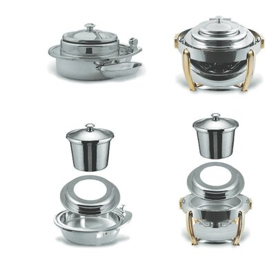 SMART Buffet Ware Medium Round Stainless Steel Soup Station Kit