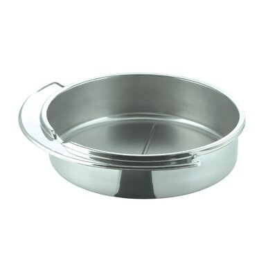 SMART Buffet Ware Large Round Stainless Steel Dripless Water Pan