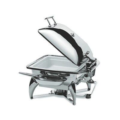 Square Chafing Dish with Stainless Steel Lid, Base, Heater and Spoon Holder