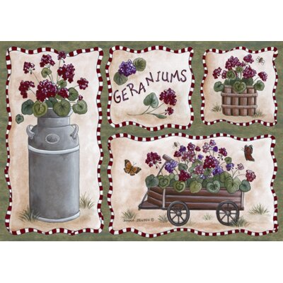 Custom Printed Rugs Home Accents Geraniums Novelty Rug