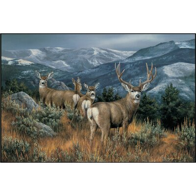 Custom Printed Rugs Last Glance Mule Deer Doormat