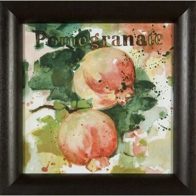Phoenix Galleries Pomegranate on Canvas Framed Print
