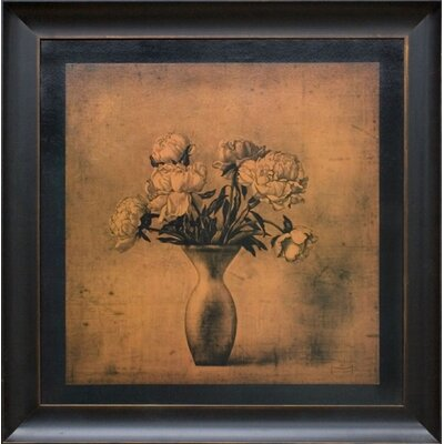 Fragrant Peonies Canvas Transfer Framed Print