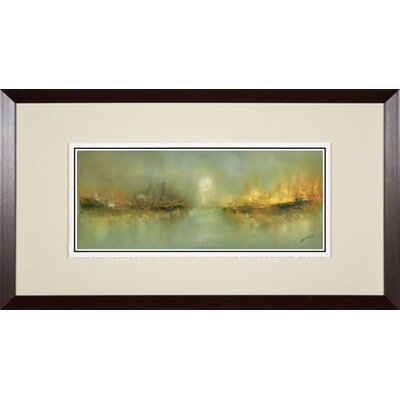 Phoenix Galleries Misty Harbor Giclee Framed Print