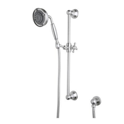 "Rohl Rohl 1311 Wall Mounted Hand Shower with Brass Handle, Slide Bar, 59"" Flexible Brass Hose, and Wall Outlet"