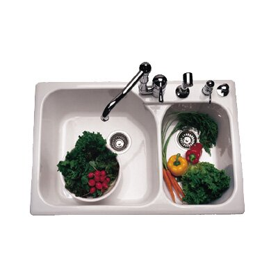 Bowl Kitchen Sink with Four Holes