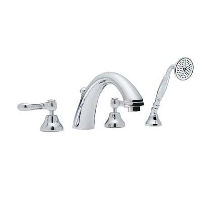 Rohl Country Double Handle Bath Deck Mount Roman Tub Faucet