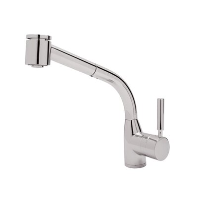 Rohl Pullout Modern Lux One Handle Single Hole Side Kitchen Faucet with Lever Handle