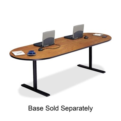"Bretford Manufacturing Inc Racetrack Conference Table,42""x96""x29"",Wild Cherry"