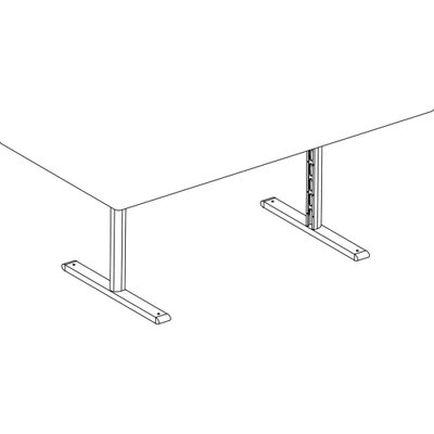 "Bretford Manufacturing Inc 2-Leg Base, for 96"" Top, Raven"