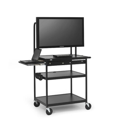 Bretford Manufacturing Inc Cart with Laptop Shelf for Flat Panels
