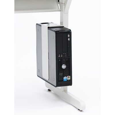 Bretford Manufacturing Inc Slim CPU Holder for Work Center Computer Table in Grey Mist