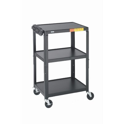 "Bretford Manufacturing Inc 26 - 42"" High UL Listed Adjustable Audio Visual Cart"