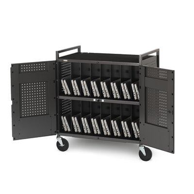 Bretford Manufacturing Inc 32 Netbook Cart with Antimicrobial Surface in Anthracite