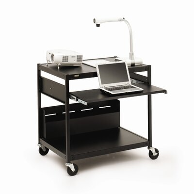 "Bretford Manufacturing Inc Projector / Laptop Presentation Cart with 4 Electrical Outlets - 33"" H"