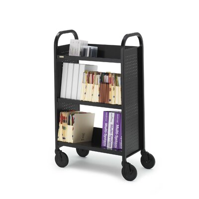 "Bretford Manufacturing Inc Voyager Series Mobile Book & Utility Truck with Three Slanted Shelves (27"" wide)"