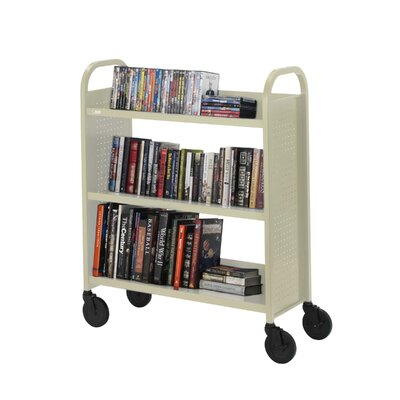 "Bretford Manufacturing Inc Book Truck, 3 Shelves, 5"" Cast, 2 Locking, 36""x18""x44"", PY"