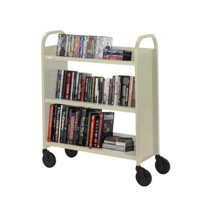 "Bretford Manufacturing Inc Book Truck, 3 Shelves, 5"" Cast, 2 Locking, 36""x18""x44"", PY"