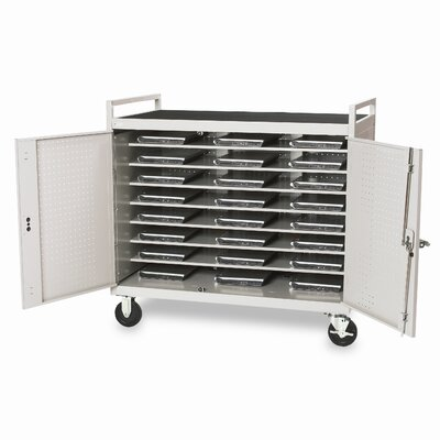 "Bretford Manufacturing Inc 24 Notebook Computer Cart with 5"" Casters (fully assembled)"