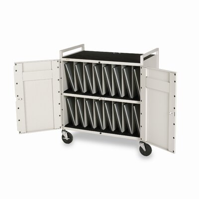 Bretford Manufacturing Inc 15-Compartment Tech-Guard Laptop Storage Cart