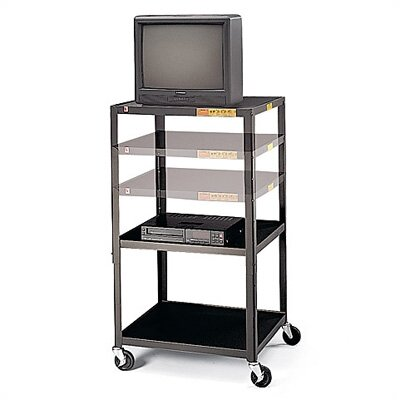 "Bretford Manufacturing Inc 36 - 54"" High UL Listed Adjustable Audio Visual Cart"