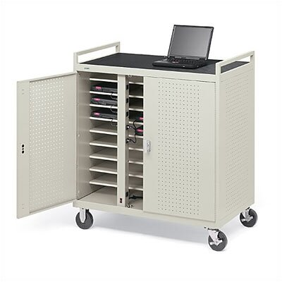 Bretford Manufacturing Inc 30-Compartment Welded Computer Cart