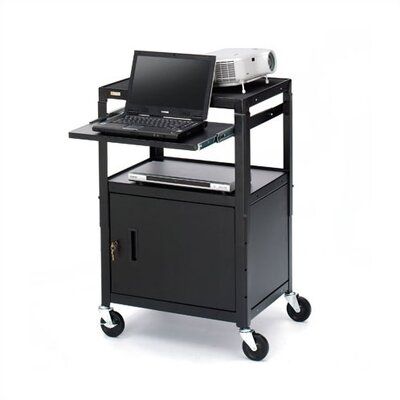 Bretford Manufacturing Inc UL Listed Adjustable Presentation Cabinet Cart