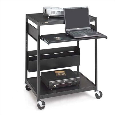 "Bretford Manufacturing Inc 42"" H Mobile Projector/Laptop Presentation Cart with Cord Bin and Electrical Unit"