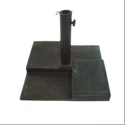 "DC America 18"" Free Standing Square Cast Stone Umbrella Base"
