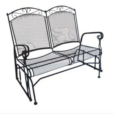 DC America Charleston Wrought Iron Garden Bench