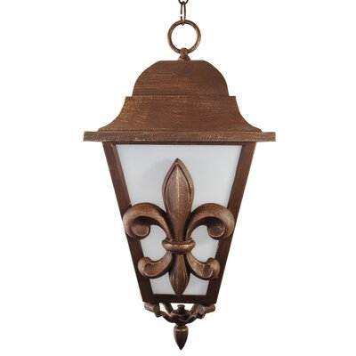 "Melissa Lighting Americana Fleur De Lis Series 1 Light 24.5"" Hanging Lantern"