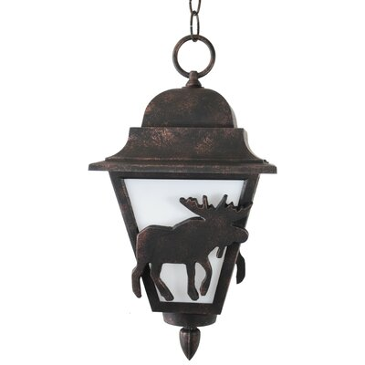 "Melissa Lighting Americana Moose Series 1 Light 16"" Hanging Lantern"