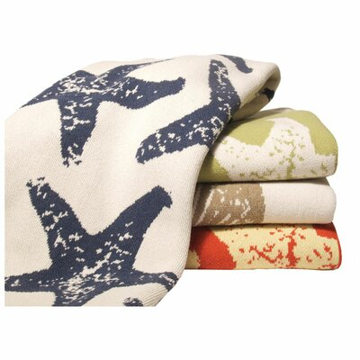 In2Green Eco Sea Star Cotton Throw Blanket
