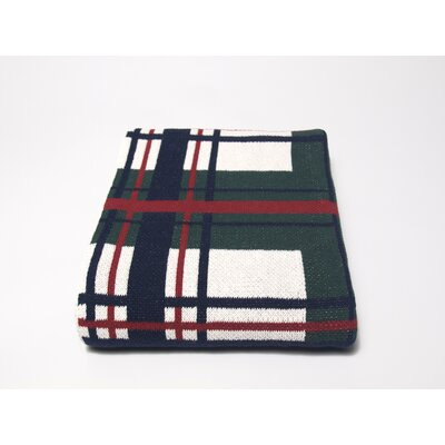 In2Green Tartan Plaid Cotton Throw
