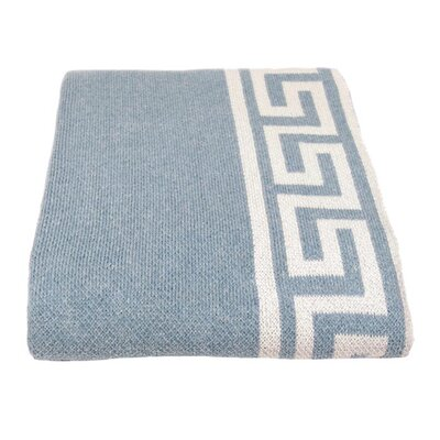Eco Greek Key Throw Blanket