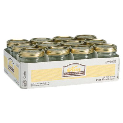 <strong>Alltrista</strong> Wide Mouth Canning Jar (Set of 12)