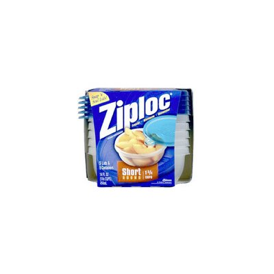Ziploc Short Round Container (Set of 5)